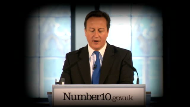 david cameron criticised by dame elisabeth hoodless lib merseyside liverpool david cameron mp speech at big society launch event sot my great passion... - cut video transition stock videos & royalty-free footage