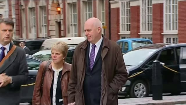 government to end consultation on section 40 2011 ext bob dowler and sally dowler along kate mccann along from court - kate mccann stock videos & royalty-free footage