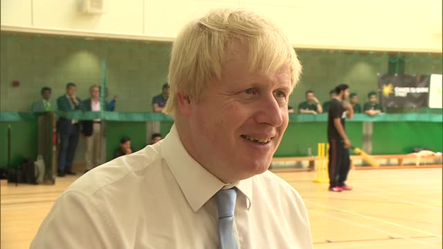 government to relax planning regulations uxbridge int various of boris johnson mp playing street cricket at hillingdon sports centre boris johnson mp... - rules stock videos & royalty-free footage