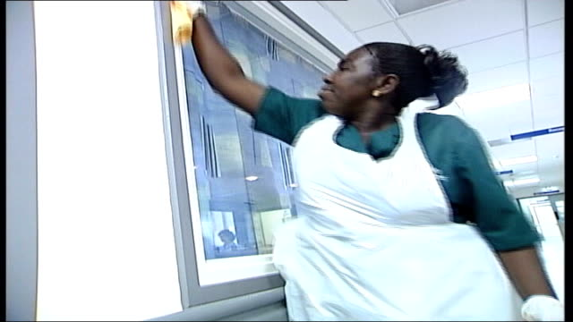 government unlikely to meet mrsa target date woman cleaning in hospital corridor - mrsa stock videos and b-roll footage
