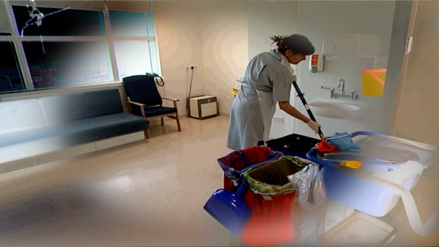 government unlikely to meet mrsa target graphicised sequence hospital cleaners fade - mrsa stock videos and b-roll footage
