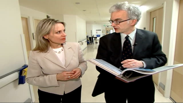 government unlikely to meet mrsa target wilson interview with reporter in shot sot on ensuring that surgeons do better at ensuring wounds are not... - mrsa stock videos and b-roll footage