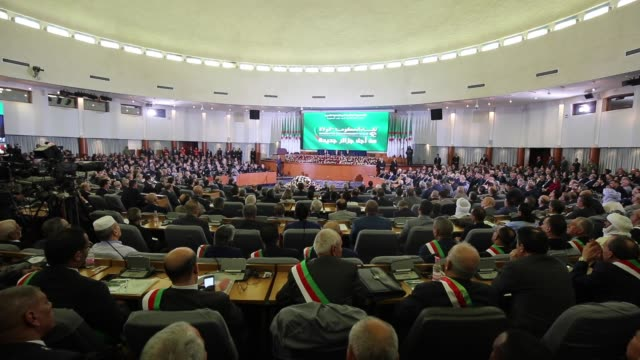 government-walis meeting, for a new algeria, sunday february 16, 2020 in algiers, algeria, under the presidency of the president of the republic, mr.... - president stock videos & royalty-free footage