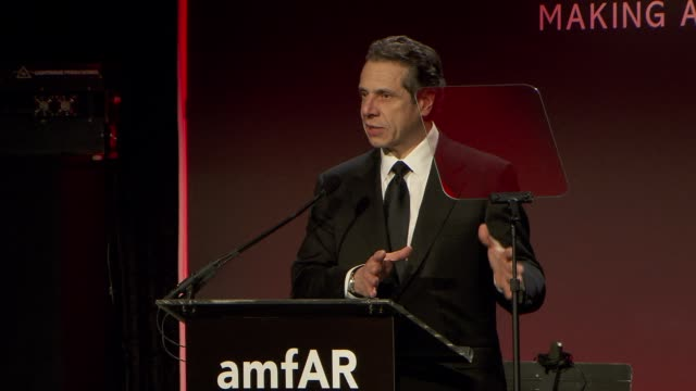 governor andrew cuomo on leadership and the work amfar has done at amfar new york gala to kick off fall 2013 fashion week at cipriani, wall street on... - governor stock videos & royalty-free footage