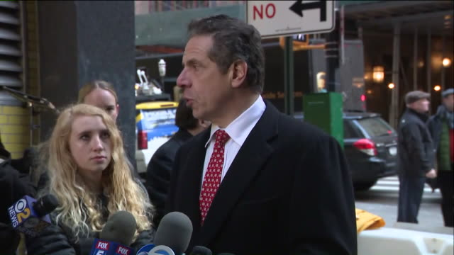 wpix governor andrew m cuomo joined students from leadership and public service high school in zuccotti park in manhattan to participate in the... - andrew cuomo stock videos and b-roll footage