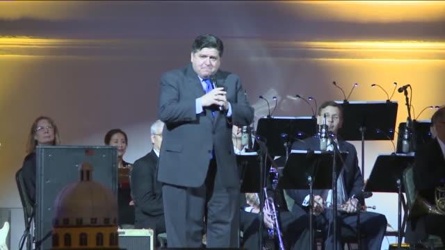 WGN Governor Elect JB Pritzker speaks at Illinois's bicentennial celebration in Chicago at Navy Pier on December 3 2018