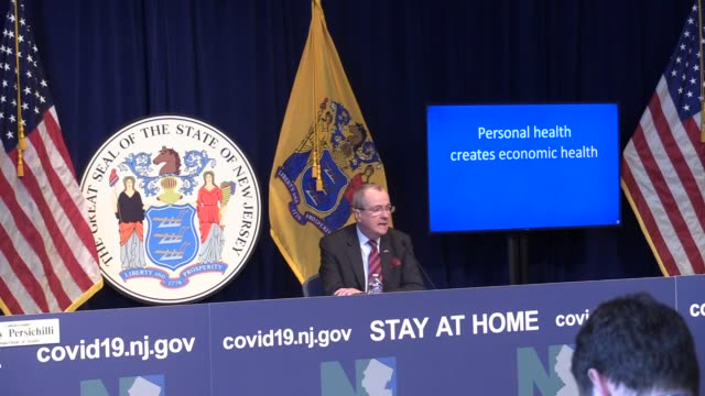 governor murphy, department of health commissioner judith persichilli, department of health communicable disease service medical director dr. edward... - governor stock videos & royalty-free footage