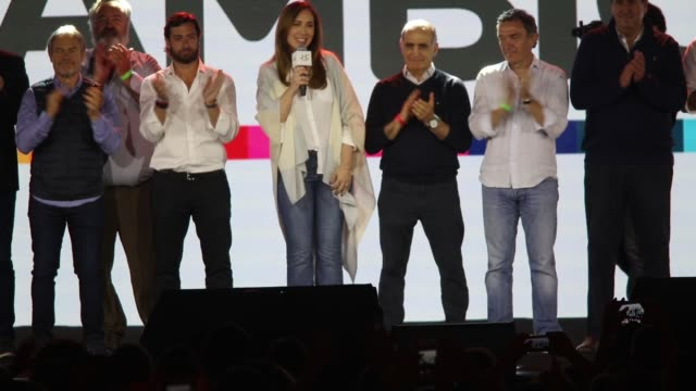 governor of buenos aires province and candidate for reelection maria eugenia vidal of juntos por el cambio recognize his defeat against axel kicillof... - buenos aires province stock videos & royalty-free footage