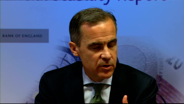governor of the bank of england ends cheap bank loans for mortgages bank of england int mark carney press conference sot given the access to credit... - ファイサル・イスラム点の映像素材/bロール