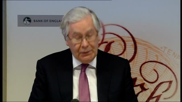 governor of the bank of england warns of 'choppy waters ahead'; england: london: int sir mervyn king press conference sot - the path of recovery is... - zigzag stock videos & royalty-free footage