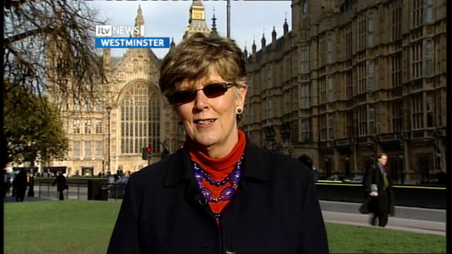prue leith intvw england london westminster ext prue leith 2way interview sot talks of recommendations and on eating better - prudence leith stock videos and b-roll footage