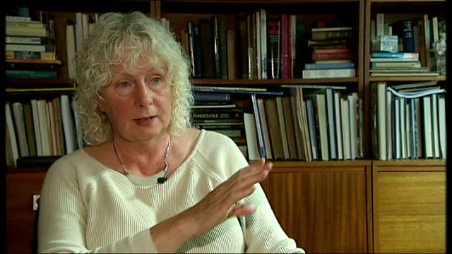 gps thought to be making extra money from outsourcing location unknown int maggie andrews interview sot - outsourcing video stock e b–roll