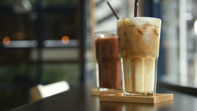 hd: grab a coffee in a cafe - cafe macchiato stock videos and b-roll footage