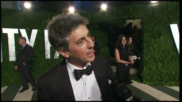 grab of terry george at vanity fair party interview grab with director alexander payne on february 27 2012 in los angeles california - vanity fair stock videos and b-roll footage