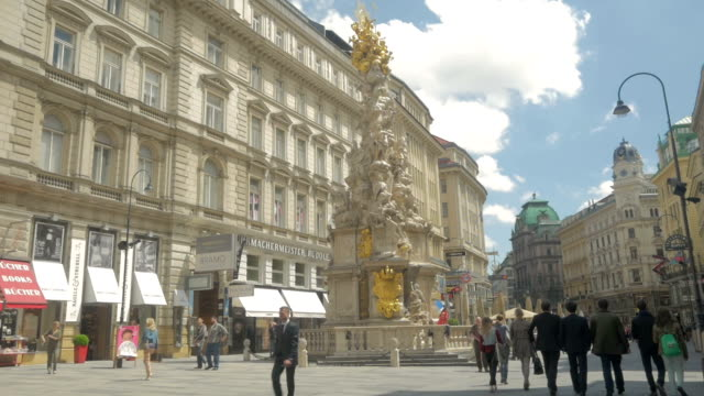 Graben Street with Pestsaule Monument.