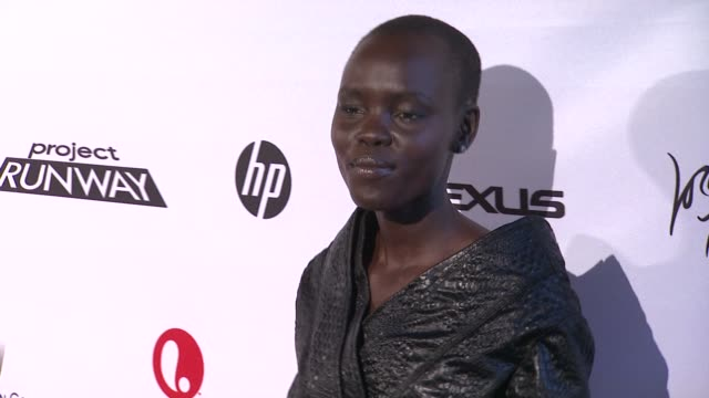grace bol at project runway 10th anniversary party at highline on july 17 2012 in new york new york - project runway stock videos and b-roll footage