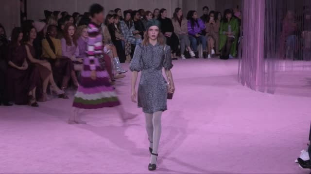 grace elizabeth her fellow models and designer on the runway for the kate spade ready to wear fall winter 2019 fashion show in new york city friday... - grace elizabeth stock videos & royalty-free footage