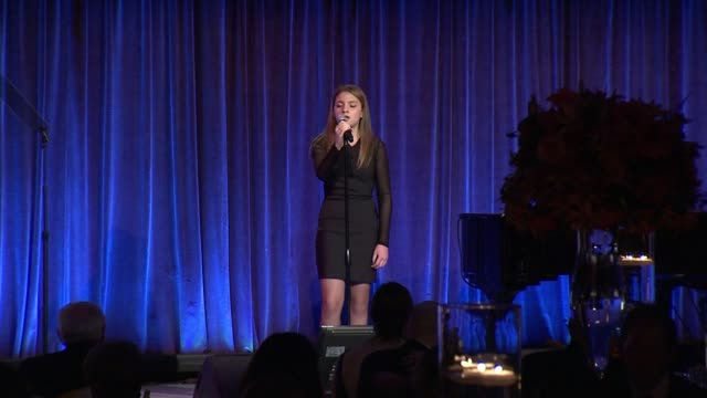 PERFORMANCE Grace Gaustad at The Christopher Dana Reeve Foundation Hosts 25th Anniversary A Magical Evening Gala at Cipriani Wall Street on November...