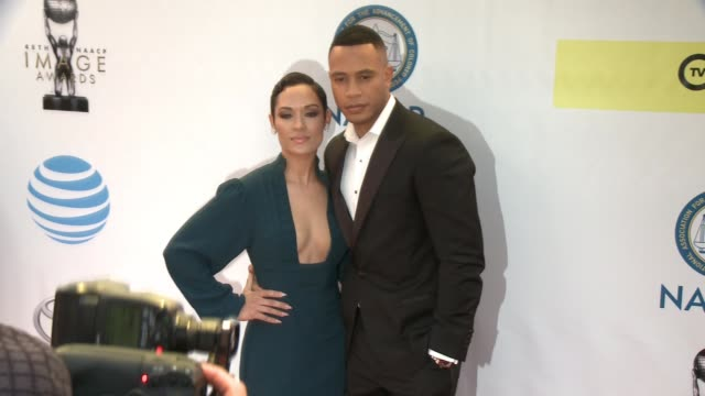 Grace Gealey and Trai Byers at 48th NAACP Image Awards at Pasadena Civic Auditorium on February 11 2017 in Pasadena California