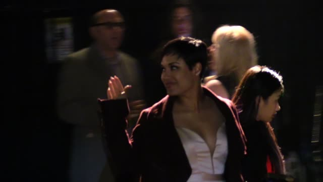 grace gealey departs the vanity fair fiat young hollywood in hollywood celebrity sightings in los angeles ca on - vanity fair stock videos and b-roll footage