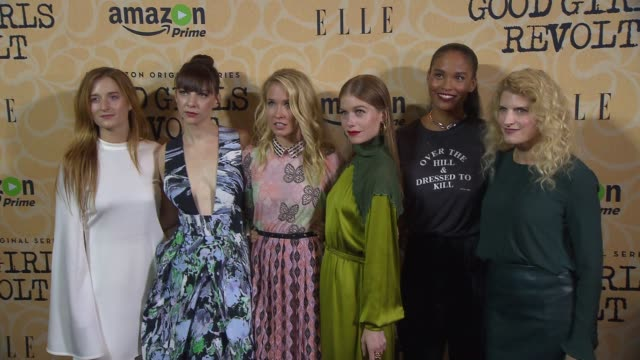 Grace Gummer Erin Darke Anna Camp Genevieve Angelson Joy Bryant and Dana Calvo at Amazon's Screening of Good Girls Revolt in New York City at Hearst...