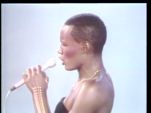 grace jones performs for the first time on the soul alive stage students from the bronx high school of science in new york are featured in this weeks... - soul music stock videos & royalty-free footage