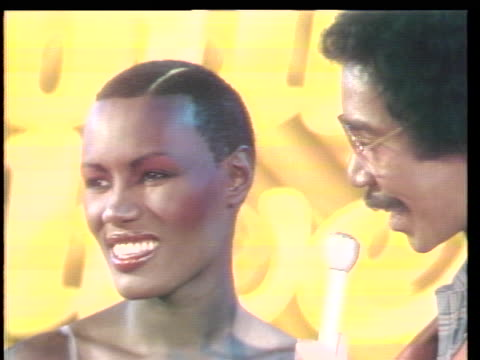 grace jones television debut on the soul alive stage students from the bronx high school of science in new york are featured in this weeks episode on... - audio electronics stock videos & royalty-free footage
