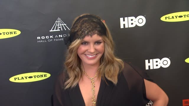 grace potter at 28th annual rock and roll hall of fame induction ceremony arrivals 4/18/2013 in los angeles ca - keramiker stock-videos und b-roll-filmmaterial