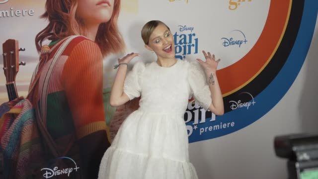 grace vanderwaal at the world premiere of disney stargirl on march 10 2020 in hollywood california - gif stock videos & royalty-free footage