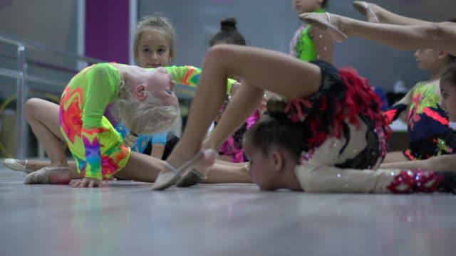 graceful colourful little ballet girls - ballet performance stock videos & royalty-free footage