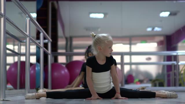 graceful little ballet girls doing the splits - doing the splits stock videos & royalty-free footage