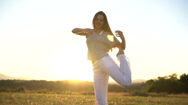 graceful moves - bow pose stock videos & royalty-free footage