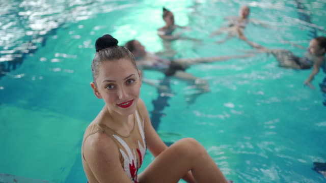 graceful young woman - woman swimming costume stock videos & royalty-free footage