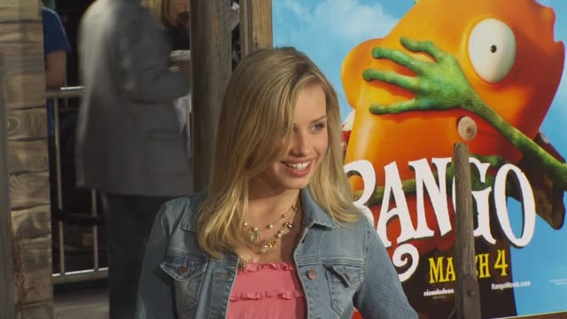 gracie dzienny at the 'rango' premiere at westwood ca - westwood stock videos & royalty-free footage