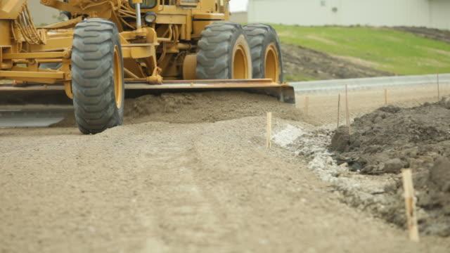 Grader Smoothing Gravel Surface for Asphalt Road