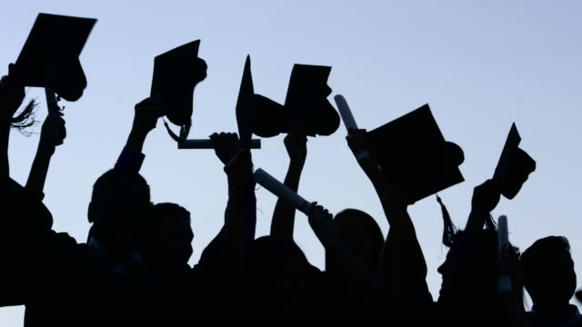 graduation celebration - studente universitario video stock e b–roll
