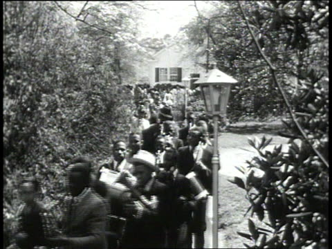 1939 montage graduation ceremonies / lowndes county, alabama, united states - marching band stock videos and b-roll footage