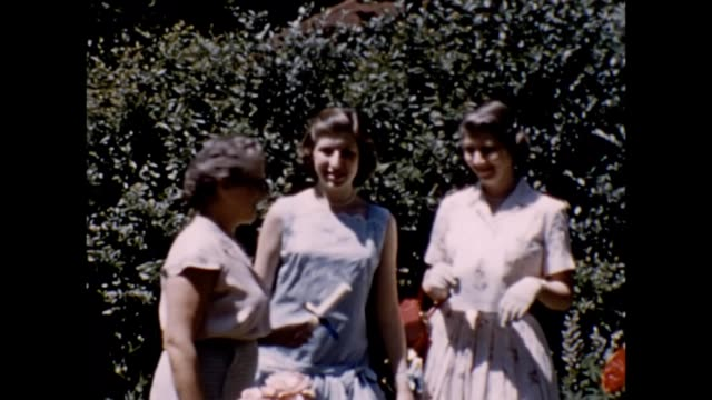 1957 graduation presents from grandma - kleid stock-videos und b-roll-filmmaterial