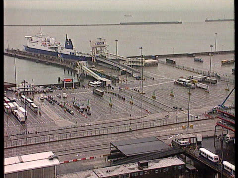 battle to keep children gv asda car park pan rl asda supermarket lms cars parked dover docks tgv docks o ferry 'pride of dover' and lifeboats tlms... - ferry stock videos & royalty-free footage
