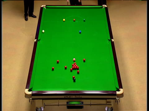graeme dott breaks off just one frame from victory at 1714 peter ebdon comes to table but misses long red world snooker championship final crucible... - pool cue sport stock videos & royalty-free footage