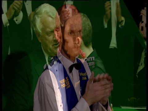 graeme dott is presented with trophy following his victory over peter ebdon in world snooker championship final crucible theatre sheffield 01 may 06 - world championship stock videos & royalty-free footage