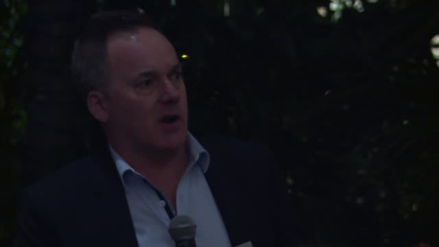 speech graeme mason on the australian oscar® nominees at the screen australia and australians in film host australian oscar nominees party at four... - oscar party stock-videos und b-roll-filmmaterial
