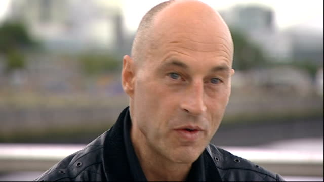 graeme obree to attempt to break world land speed record obree interview sot - world record stock videos and b-roll footage