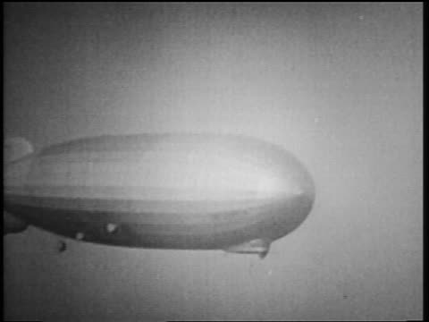 B/W 1929 AERIAL Graf Zeppelin flying