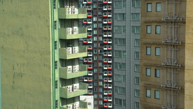 graffic balcony - campo totale video stock e b–roll