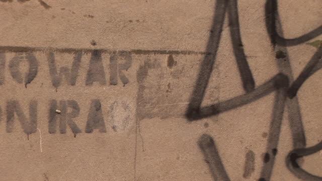 Graffiti about War on Iraq - HD & PAL