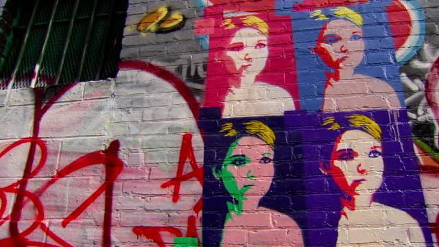 graffiti art - panning - spray painting stock videos & royalty-free footage