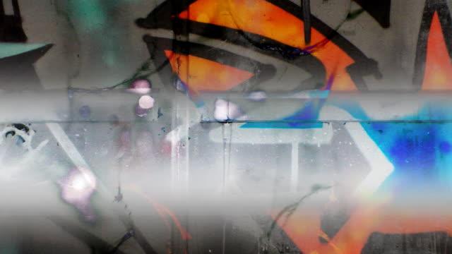graffiti-hintergrund - moderne rockmusik stock-videos und b-roll-filmmaterial