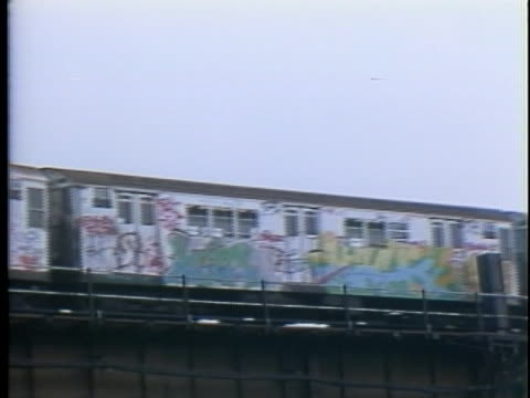 graffiti in new york city in the 1980s - b roll stock videos & royalty-free footage