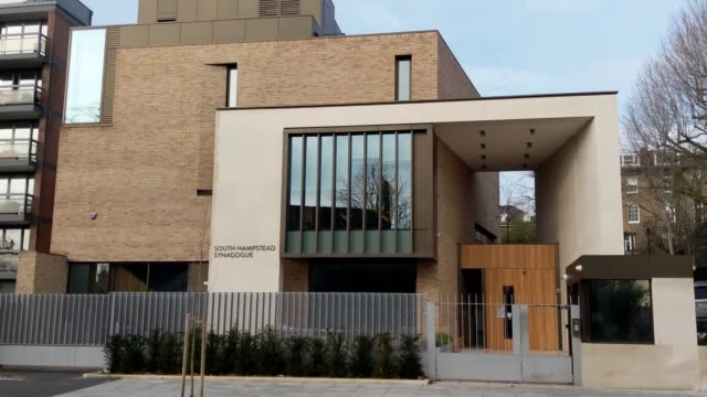 graffiti showing the jewish holy symbol alongside '9 11' has been spray-painted across several premises in north london. a synagogue and several... - 反ユダヤ主義点の映像素材/bロール